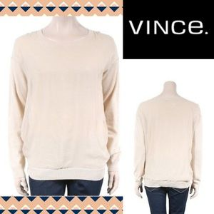 NWOT Vince. Cashmere & Silk lightweight sweater, M